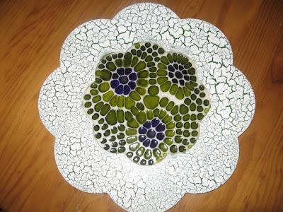 sousplat madeira: técnica mosaico
