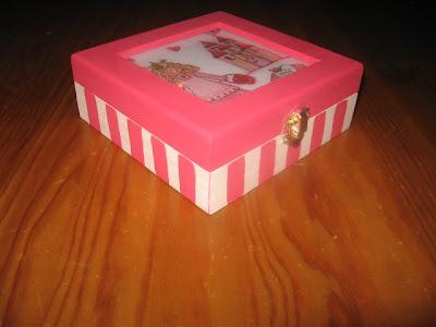 caixa de madeira, découpage