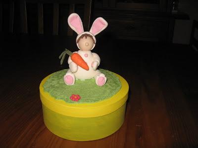 coelho em biscuit