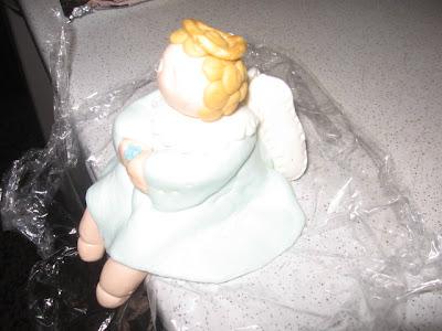 anjos em pasta de açucar
