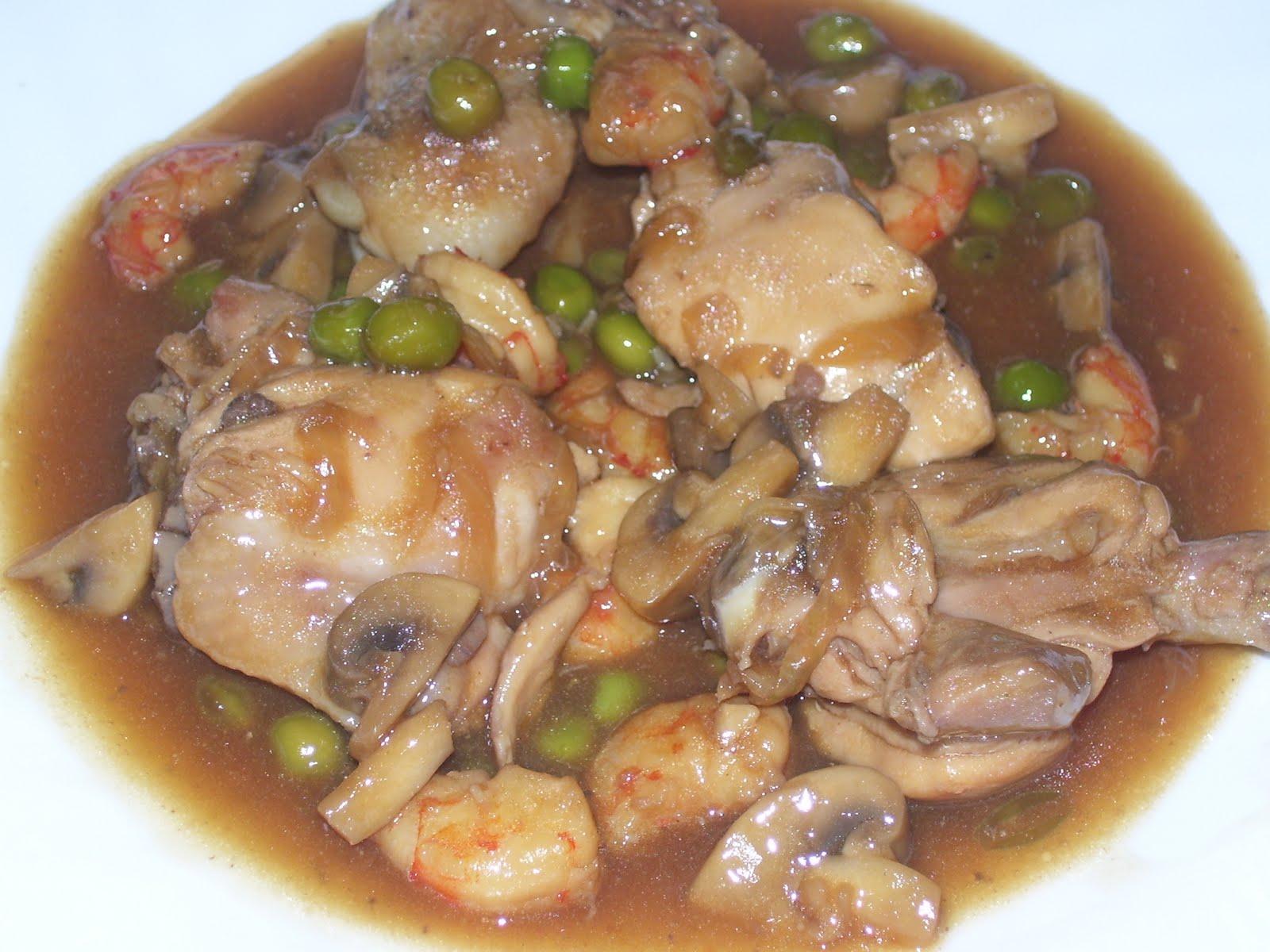 verdura y pollo