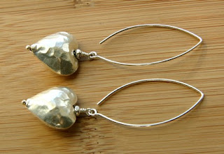 Hammered Heart Earrings by Over the Moon Jewel