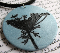 Queen Anne's Lace on Blue by Miss Ficklemedia