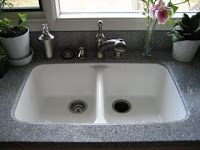 Undermounted Corian Sink