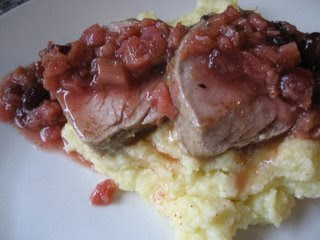 Pork Medallions with Rhubarb Chutney