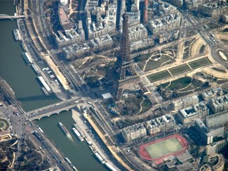 The Eiffel Tower by Air