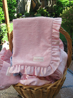 Pink Minky by Lana's Little Darlins