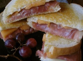 Prosciutto and Melon Grilled Cheese Sandwiches