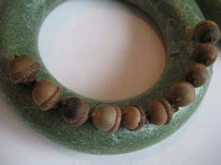Acorn Crafts and an Acorn Wreath