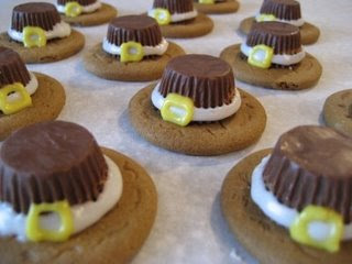 Thanksgiving Pilgrim Hat Treats