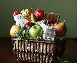 Snowmen's Delight Basket from The Fruit Company