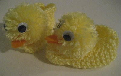 Knitted Duck Slippers