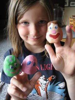 Paintable Finger Puppets