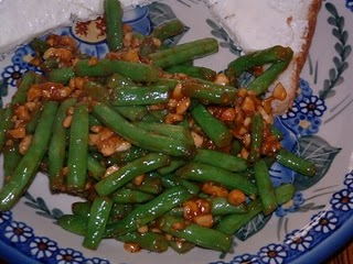stir fried green beans with cashews 1 pound green beans washed trimmed ...