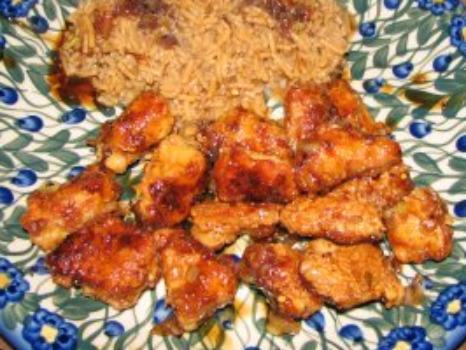 pictures Honey-Orange Chicken with Sesame Sauce