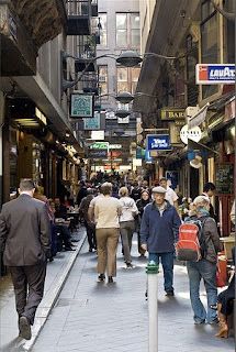 A bustling alley in melbourne