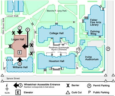 logan hall map university of pennsylvania philadelphia