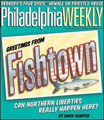 greetings from fishtown postcard, philadelphia weekly cover 2004