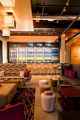 aloft philadelphia hotel, re:mix lobby
