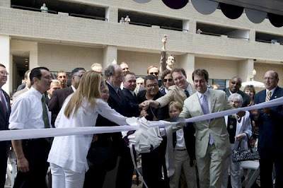stephen starr at the ribbon-cutting ceremony for the chelsea hotel atlantic city with jon corzine and curtis bashaw