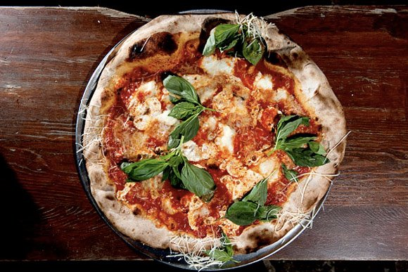 the margherita pie at lucali in brooklyn