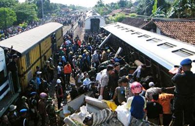 Kecelakaan Kereta Api di Pemalang Jadi Berita Dunia