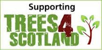 Picture shows the logo for Trees 4 Scotland, who plant trees to offset carbon for members of the Green Business Partnership in Scotland