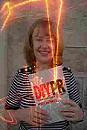 Picture of Penny Haywood Calder with her best-selling book DIY PR (1998)
