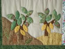 Painel em patchwork - cacaueiros