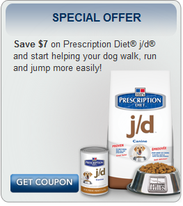 Hill's Prescription Diet: Get $7 off j/d pet food!