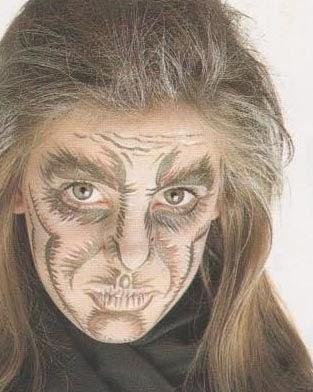 Maquillaje artistico bruja y vampiro - Caras de brujas ...