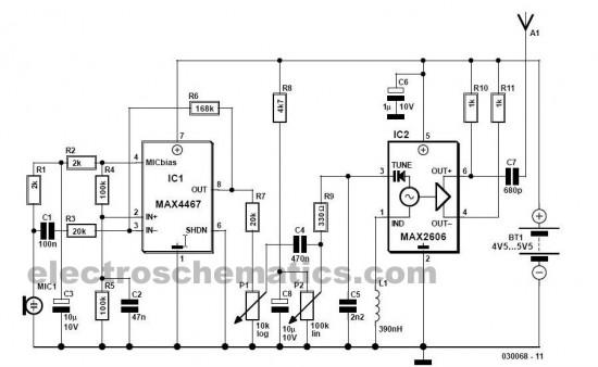 circuit  fm wireless microphone