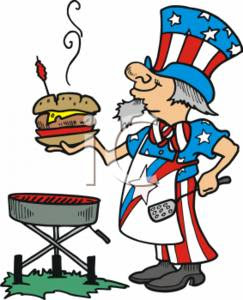 Uncle Sam BBQing in Costume