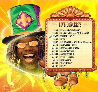 Mardi Gras Concerts at Universal Studios Orlando, FL