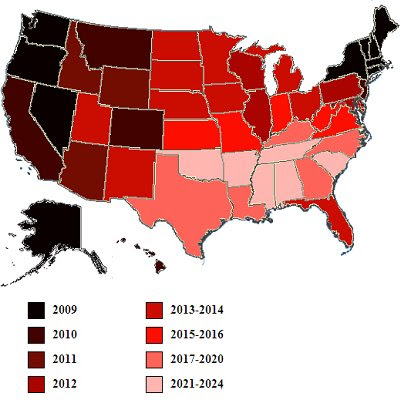 ... already legalized gay marriage), as mapped out by The Map Scroll blog.