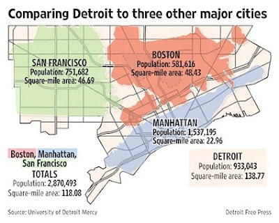 The Map Scroll The Shrinking Of Detroit