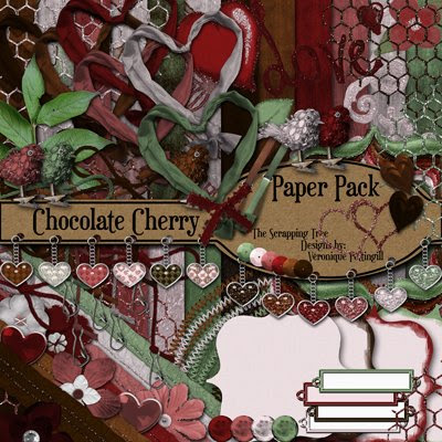 Chocolate Cherry Blog Train from Ahhh Scrap!