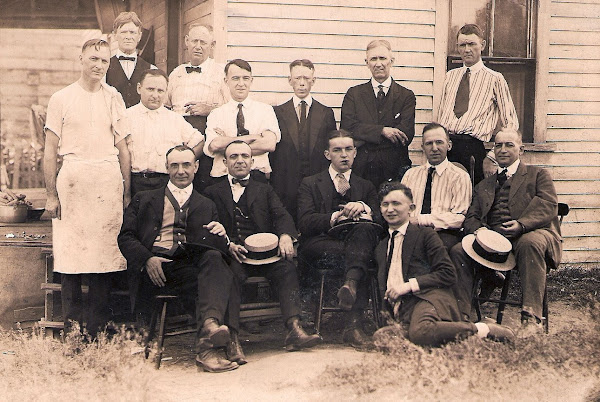 Clyde Wolfe is on the far right, back row.