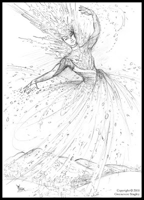 Snow Queen Rough Sketch