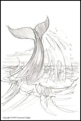 humpback whale fluke slapping