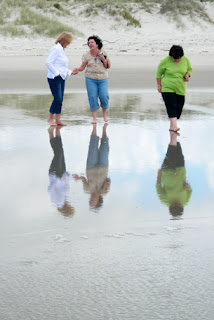 reflecting on the beach in Ruakaka