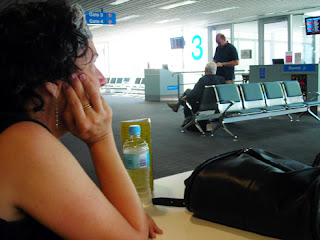 waiting for the flight to Sydney