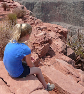 kelly viewing the canyon
