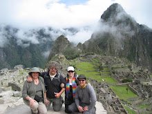 The Whole Klan in front of Macchu Picchu