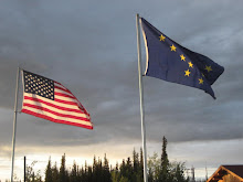 US and Alaskan Flags