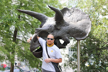 Dave and a Triceratops Skull