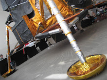 Lunar Lander, made from Dustbin Lids and Tin Foil - honest