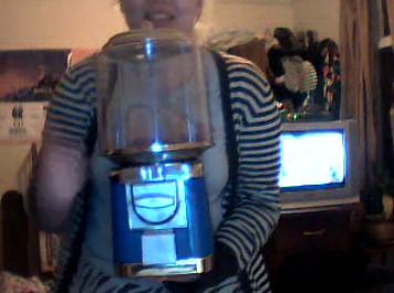 (Sophie presenting vending machine on Skype)