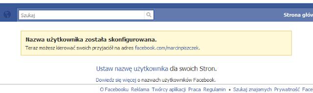Facebook nazwa użytkownika