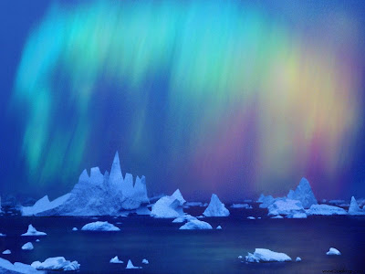 Aurora Australis Over The Bellingshausen Sea Wallpaper